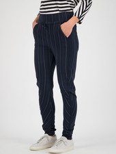 SYLVER Stripe Sweat Trousers - Dark Blue