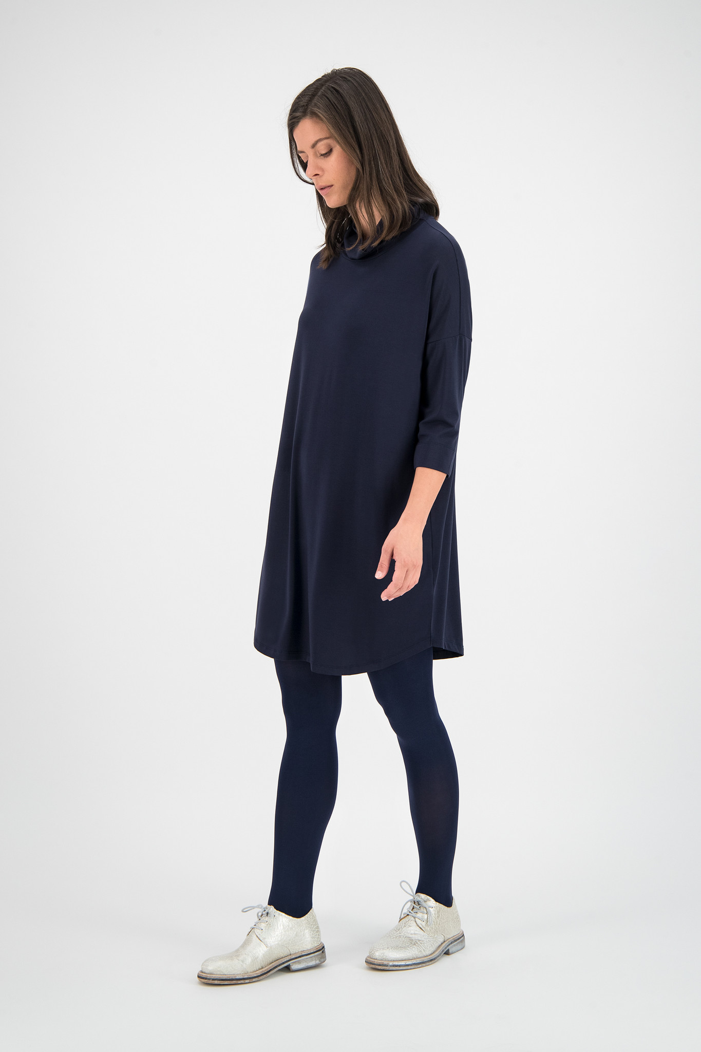 SYLVER New Lyocell Shirt - Dark Blue