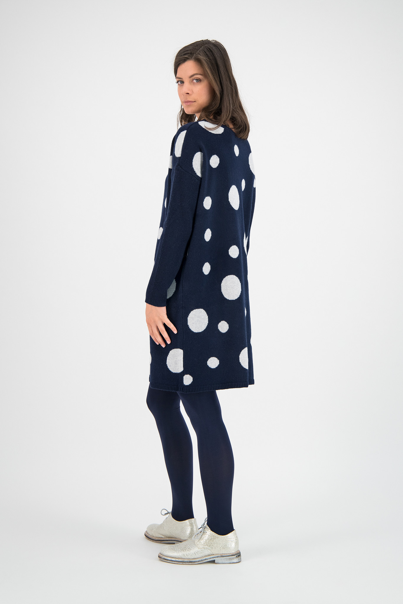 SYLVER Knitted Dot Pull - Dark Blue
