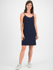 SYLVER Crêpe Stretch Slip Dress - Dark Blue