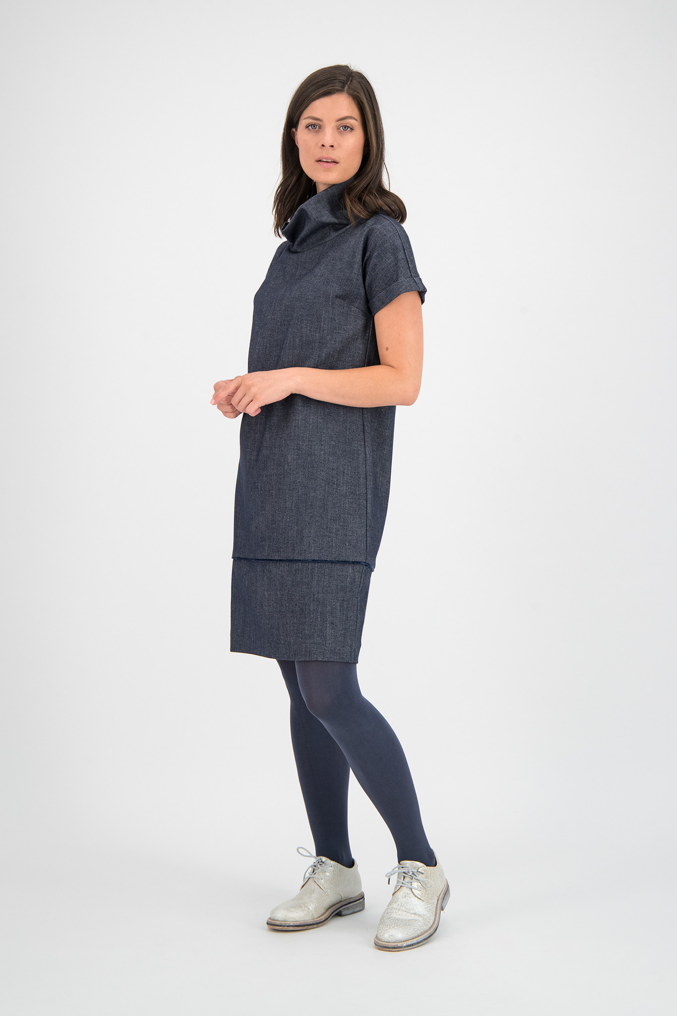 SYLVER Denim Dress - Dark Blue
