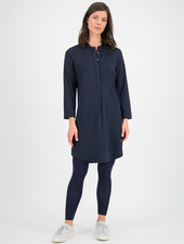 SYLVER Silky Jersey Dress - Dark Blue