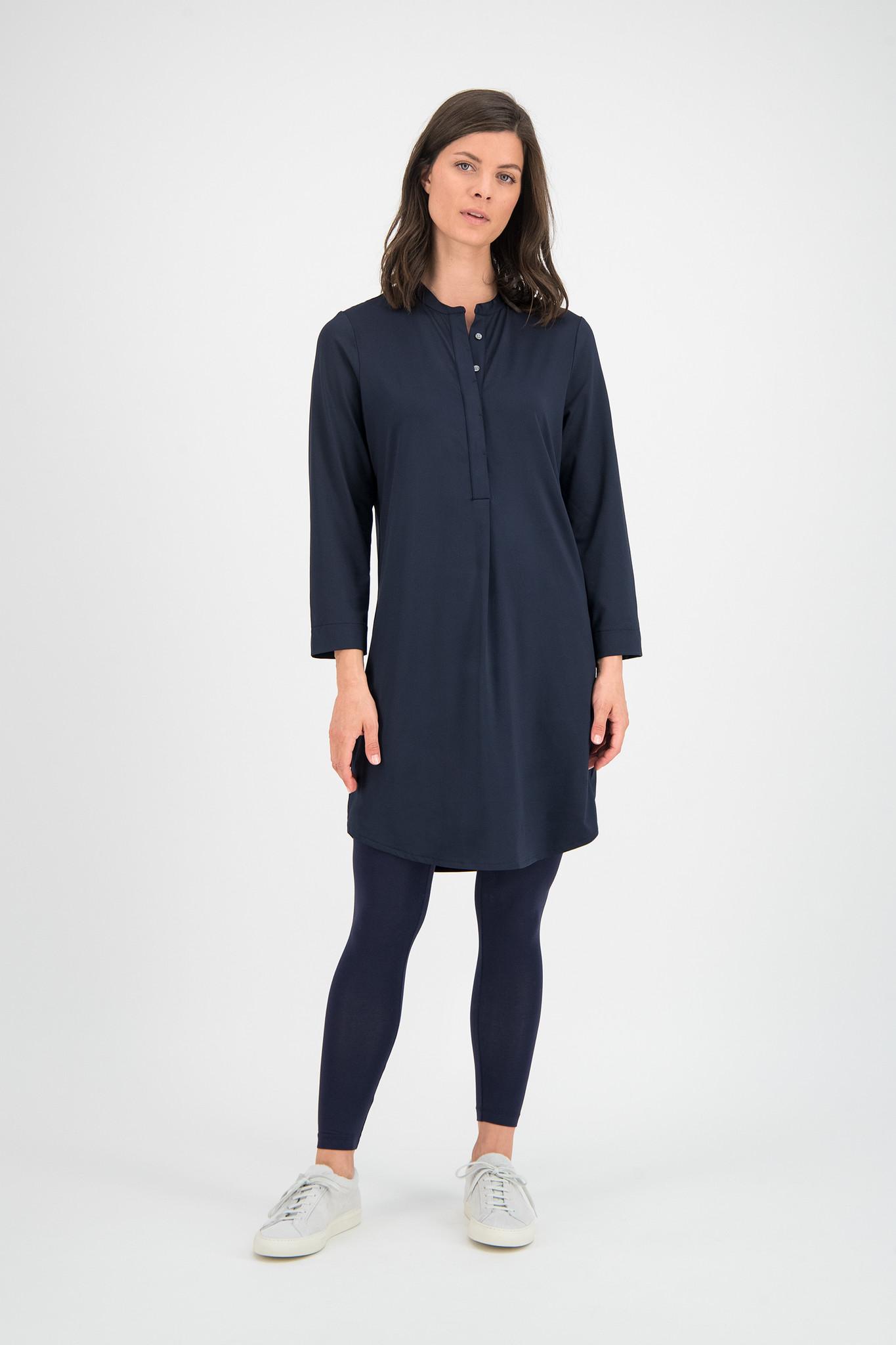 SYLVER Silky Jersey Dress - Dark Blue
