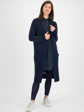 SYLVER Super Hair Cardigan Long - Dark Blue