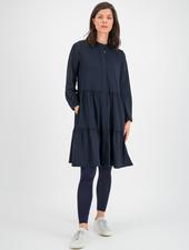 SYLVER Silky Jersey Blouse - Dark Blue
