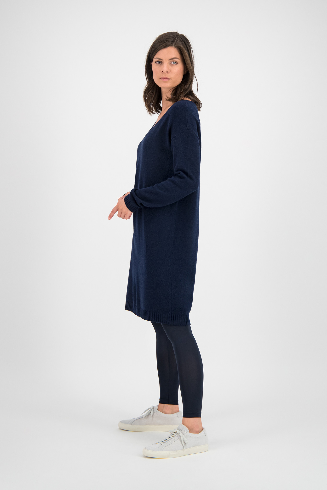 SYLVER Merino Mix Dress - Dark Blue