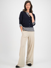 SYLVER Fine Knit Cardigan - Dark Blue