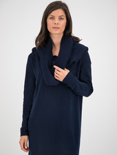 SYLVER Merino Mix Turtle-neck - Dark Blue