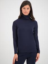 SYLVER Cotton Elastane Shirt Turtle-neck - Dark Blue