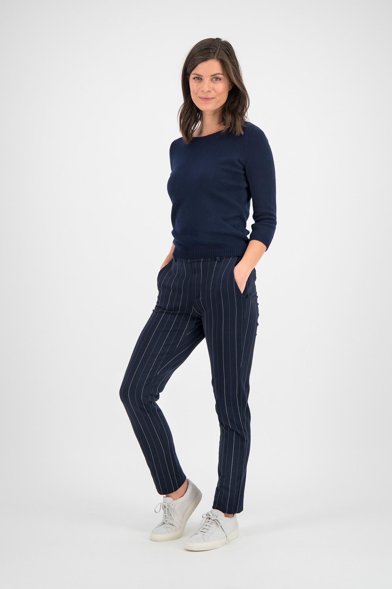 SYLVER Stripe Sweat Pants - Dark Blue