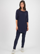 SYLVER Cotton Elastane Shirt 3/4 Sleeve - Dark Blue