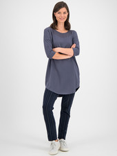 SYLVER Cotton Elastane Shirt 3/4 Sleeve - Grey