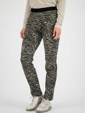 SYLVER Zebra Trousers - Oatmeal
