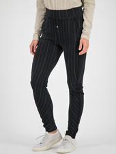 SYLVER Stripe Sweat Trousers - Black