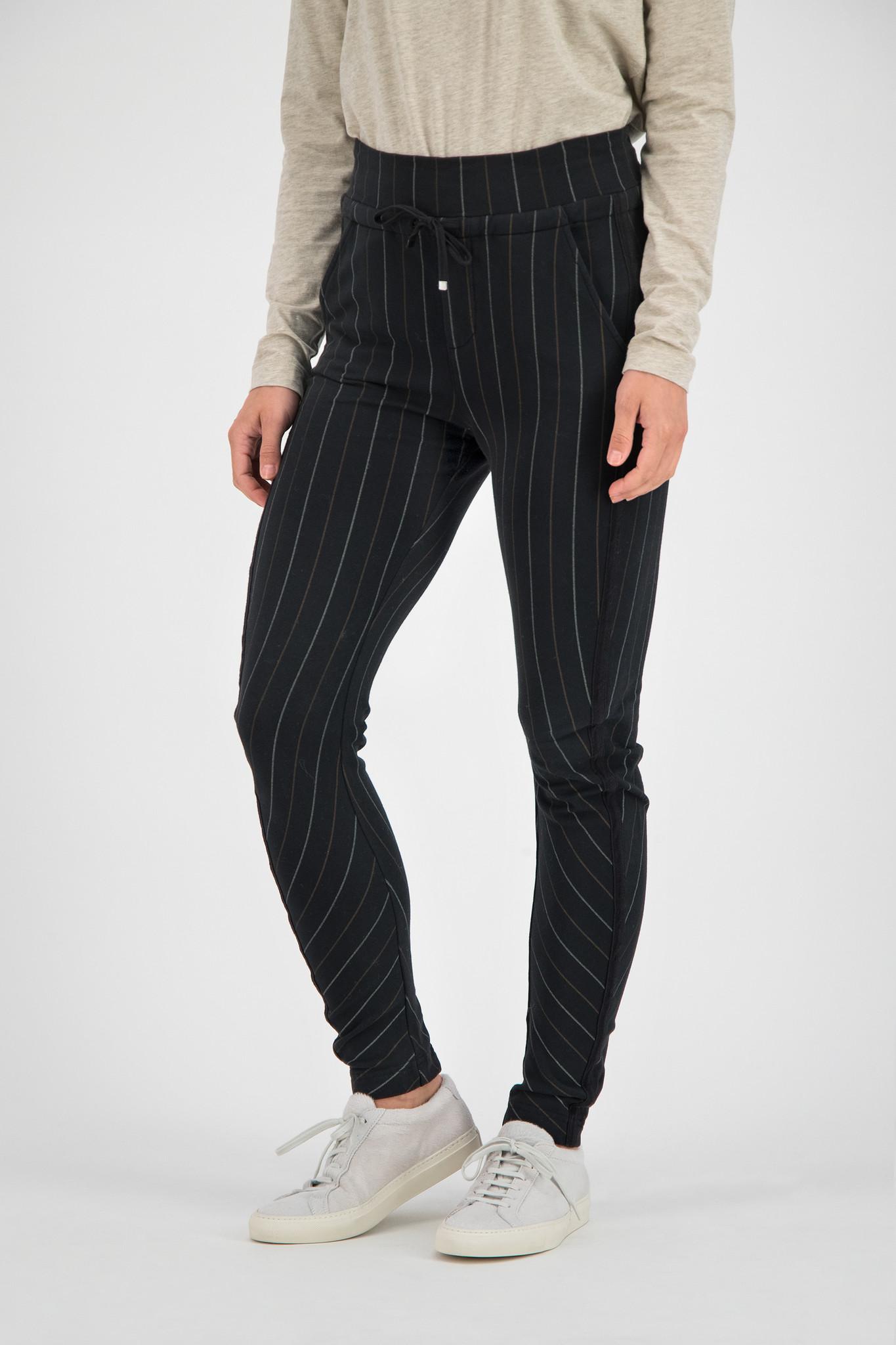 SYLVER Stripe Sweat Trousers - Black