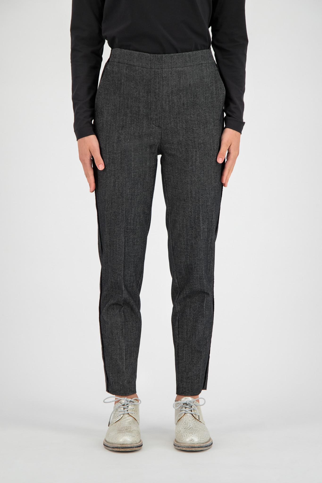 SYLVER Denim Trousers - Black