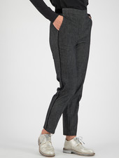SYLVER Denim Trousers - Black