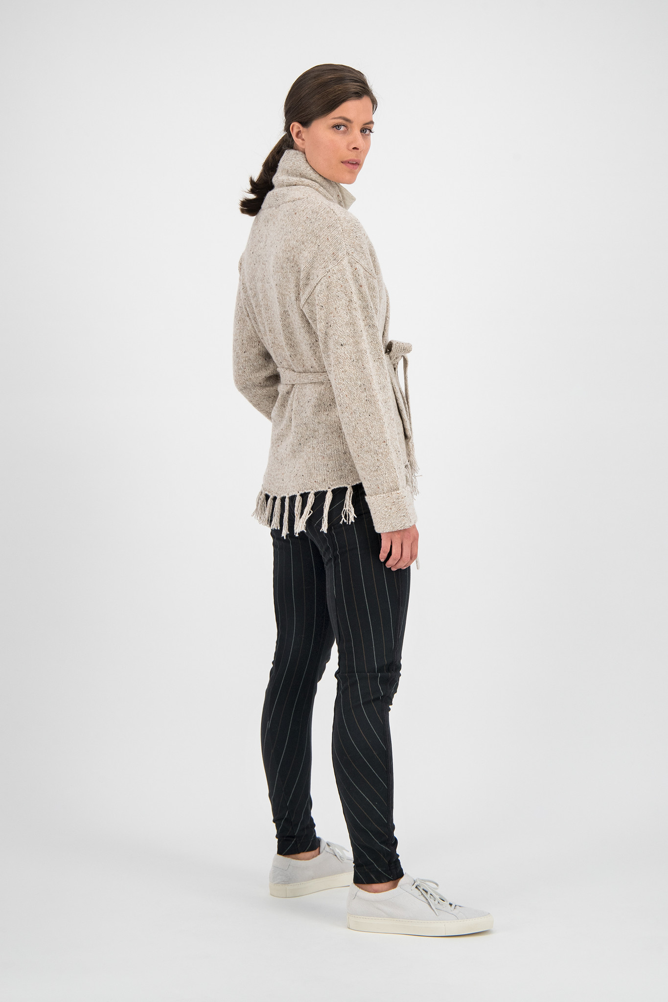 SYLVER Colour Twist Cardigan - Oatmeal