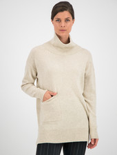 SYLVER Merino Mix Pull Turtle-neck - Oatmeal