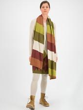 SYLVER Stripe Knit Shawl - Burnt Orange