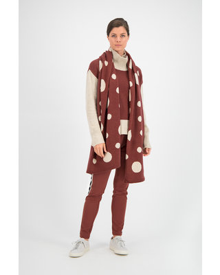 SYLVER Knitted Dot Shawl - Rust