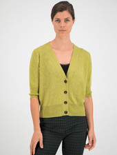 SYLVER Fine Knit Cardigan - Moss