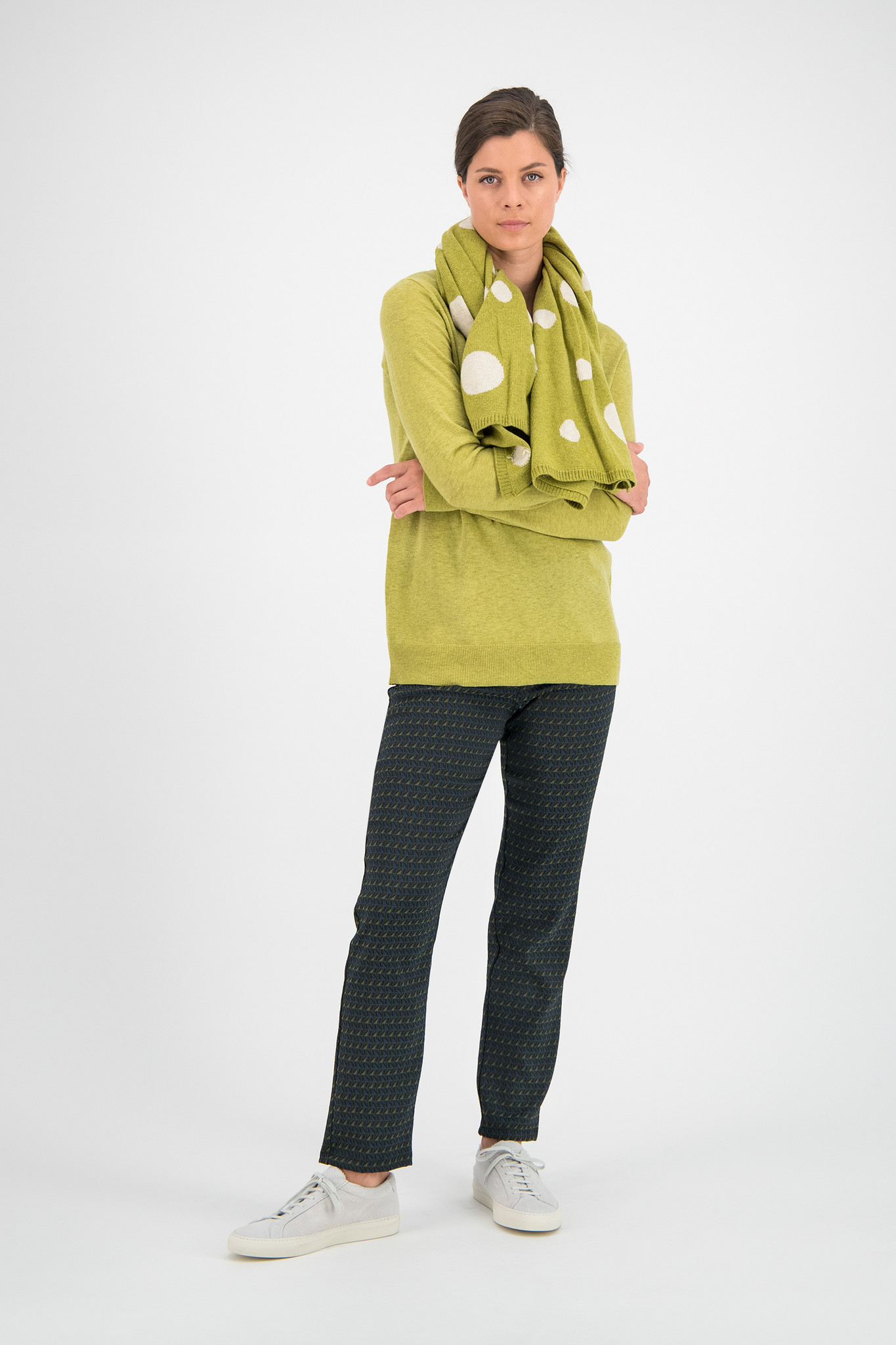 SYLVER Fine Knit Pull - Moss