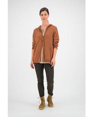 SYLVER Merino Mix Cardigan - Burnt Orange