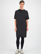 SYLVER Silky Jersey Dress Turtle-neck - Black