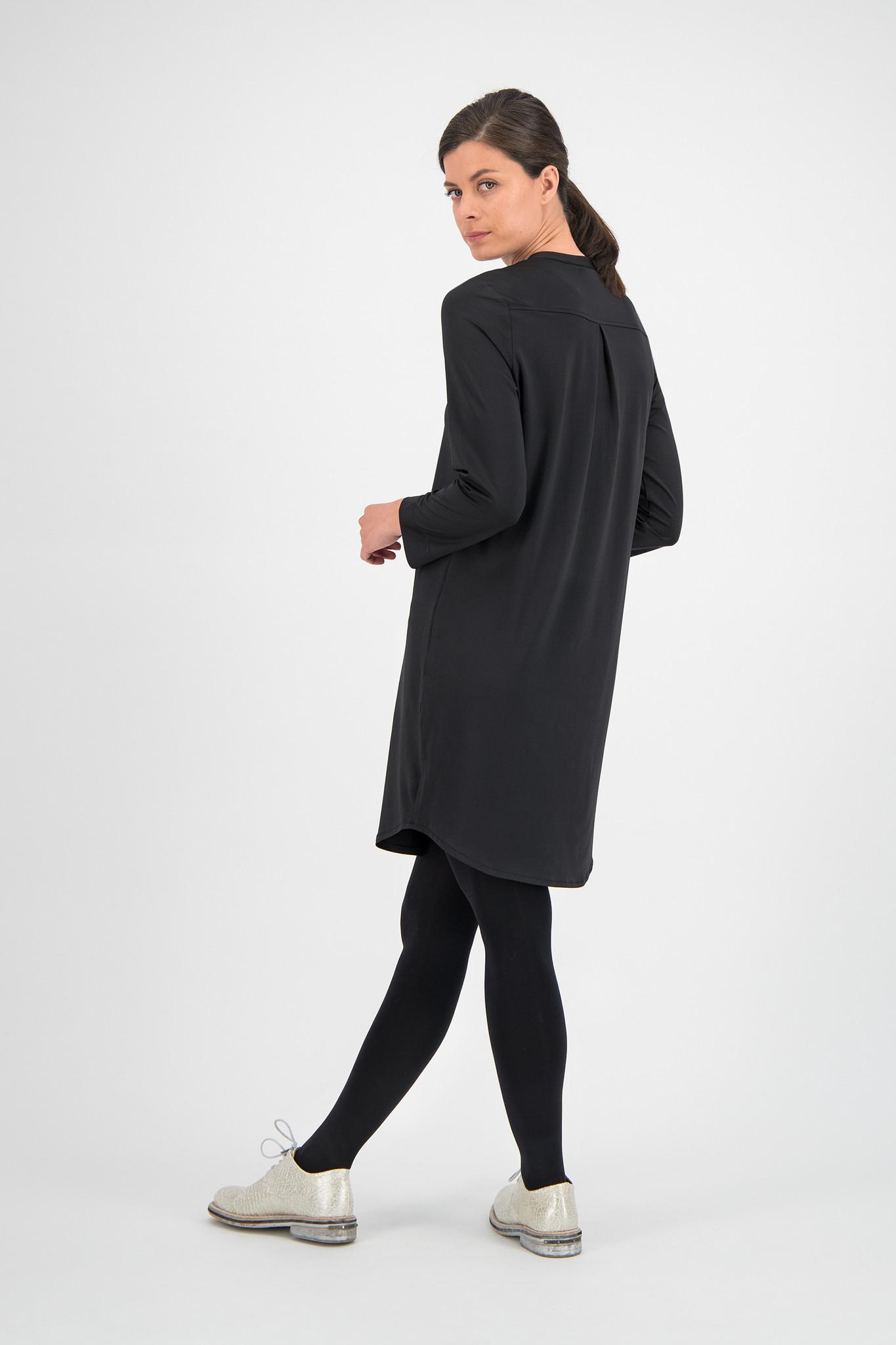 SYLVER Silky Jersey Dress - Black