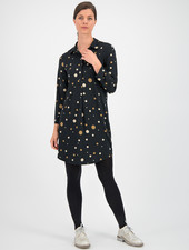 SYLVER Fantasy Dot Dress - Black
