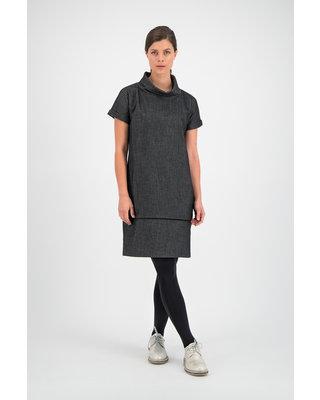 SYLVER Denim Dress - Black