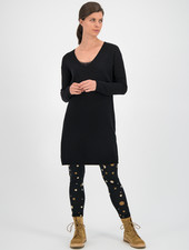 SYLVER Merino Mix Dress - Black