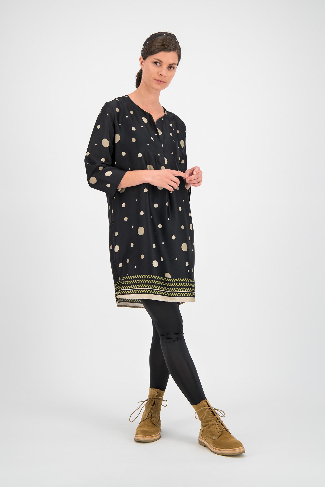 SYLVER Panel Dot Dress - Moss