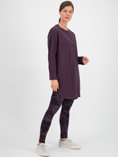 SYLVER Crêpe Stretch Tunic - Choco Wine
