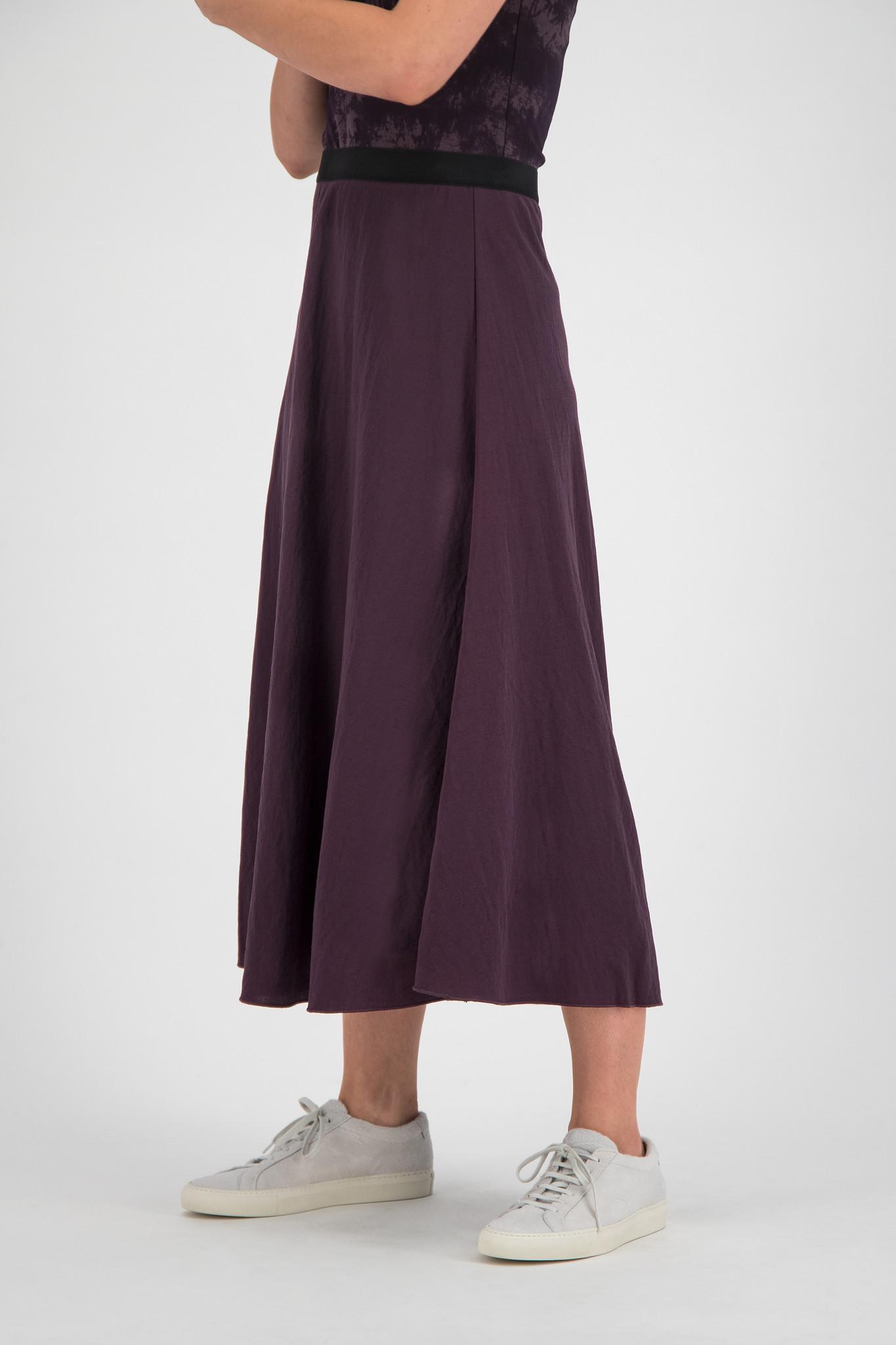 SYLVER Crêpe Stretch Skirt - Choco Wine