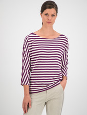 SYLVER Slub Sweat Jersey Shirt Boat-neck - Grape