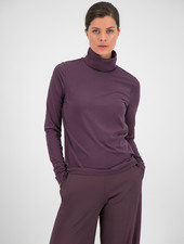 SYLVER Cotton Elastane Shirt Turtle-neck - Choco Wine