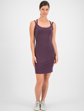 SYLVER Cotton Elastane Dress - Choco Wine