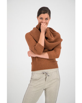 SYLVER Merino Mix Turtle-neck - Burnt Orange