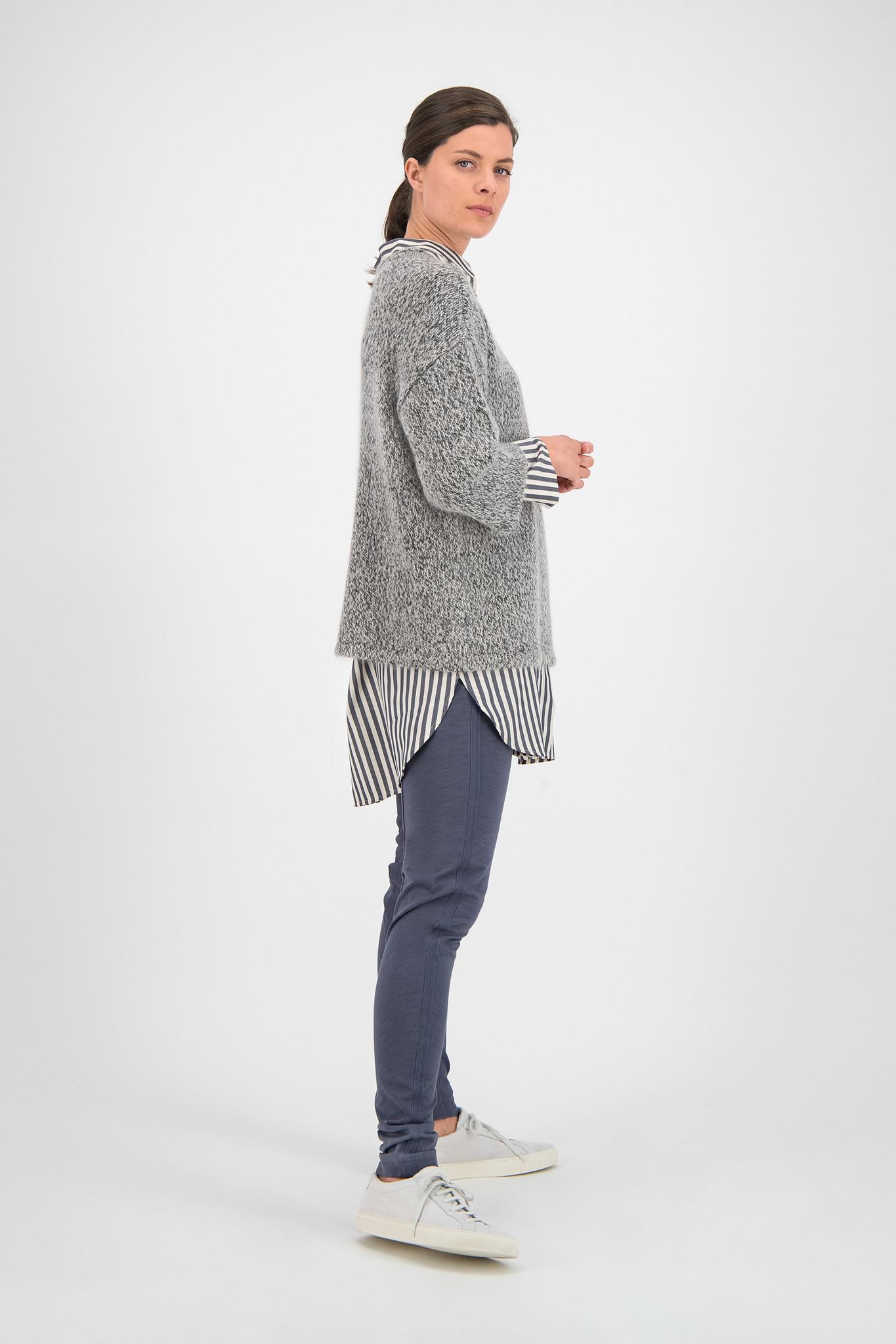 SYLVER Light Slub Trousers - Grey
