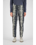 SYLVER Leopard Trousers - Light Grey