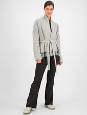 SYLVER Colour Twist Cardigan - Light Grey