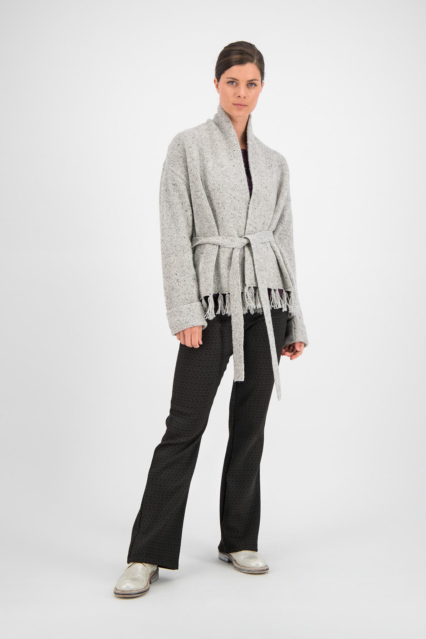 SYLVER Colour Twist Cardigan - Light Grey