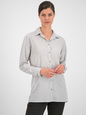 SYLVER Crêpe Stretch Blouse - Light Grey