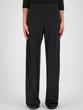SYLVER Silky Jersey Trousers Flared - Black