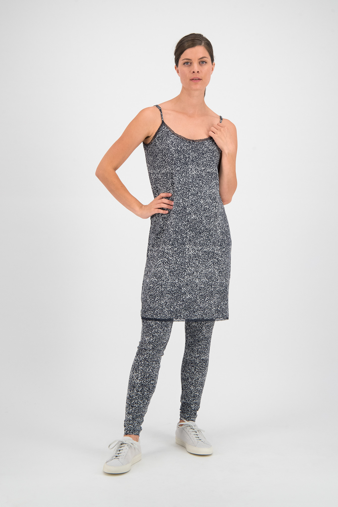 SYLVER Gravel Silky Jersey Pants - Grey