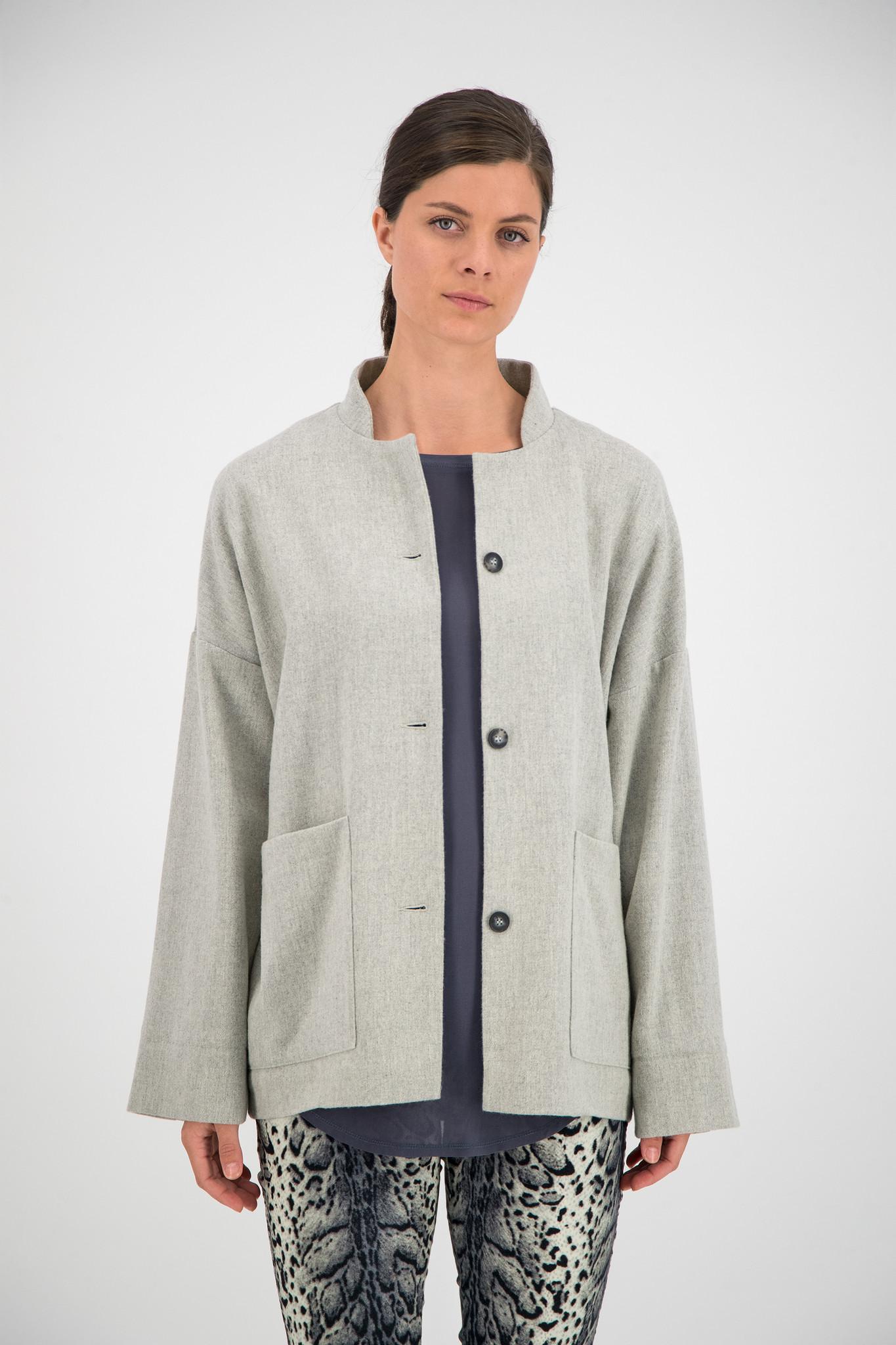 SYLVER Flannel Jacket - Light Grey