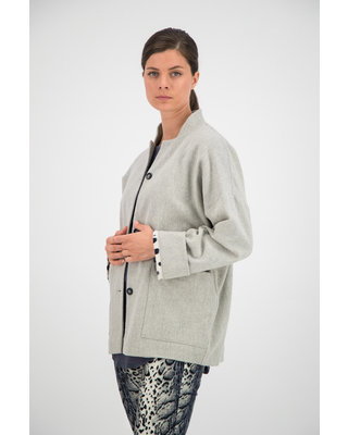 SYLVER Flannel Jacket - Light Grey