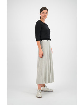 SYLVER Flannel Skirt - Light Grey